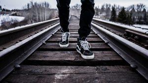 Chôdza po koľajnici